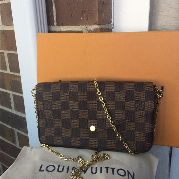 189638814652 Louis Vuitton Handbags - 2018 LOUIS VUITTON Damier Ebene Pochette Felicie
